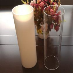 Crystal Clear extruido redonda tubo acrílico
