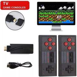 2021 4K de nuevo mini juego Box HD Video videoconsola portátil clásico retro Gabinete construido en 628 juego clásico con doble juego inalámbrico de juego