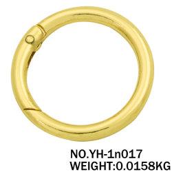 Usine de gros anneau ressort métallique en alliage de zinc Anneau rond