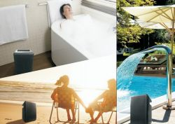 Перезаряжаемый водонепроницаемый динамик для Bluetooth душевая, пляж, бассейн и Дождливый день