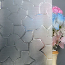 Porte de douche en verre réfléchissant de bâtiment en verre à motifs