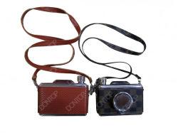 Boccetta Hip del vino del cuoio dell'acciaio inossidabile del regalo con la macchina fotografica Shap