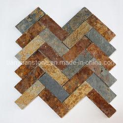 Espinha de ardósia para casa de banho em mosaico ou parede de cozinha