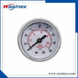 Remplis d'huile manomètre de pression de l'eau en acier inoxydable/ manomètre
