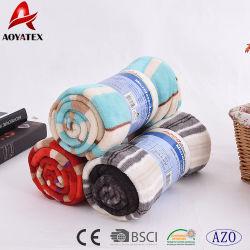 Mode bande multicolore pour imprimer une couverture en laine polaire de corail