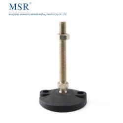 Perfil de alumínio Msr base ampla desliza decorre da base de Nylon Giratório Nível ajustável pés em todas as direções 15