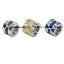 El cilindro de acero inoxidable el espaciador para Pulsera Beads haciendo