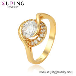 Mode de haute qualité 24K anneau plaqué or