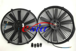 Авто детали вентилятора охлаждения радиатора для универсального электровентилятора системы охлаждения двигателя 14X10b 80W 12V/24V