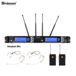 無線マイクロフォンシステムSkm9000専門のカラオケのヘッドセットのマイクロフォン