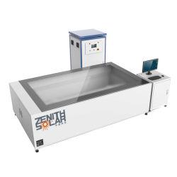 A linha de processamento do painel solar Caminho Sun Simulator simulador solar