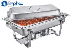 Buphex 9l usure par frottement plat en acier inoxydable 433 avec châssis empilable pour le buffet du restaurant