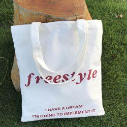 Tela di canapa della borsa del Tote delle donne di modo/sacchetto del cotone per ginnastica