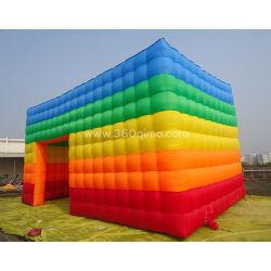 Prezzo gonfiabile di campeggio della tenda del grande di esplosione del cubo indicatore luminoso esterno della festa nuziale LED per gli eventi esterni It028