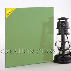 反射か上塗を施してある着色されるセリウムが付いている4-12mmの深緑色のガラス
