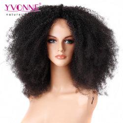 Big densité 250 % dentelle brésilien perruque afro Kinky Curl Remy perruque de cheveux