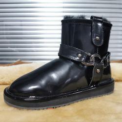 عامة مموّن نمط مسيكة نساء يبيطر أحذية مع [وهولسل بريس] جلد حذاء شتاء لامعة خفاف