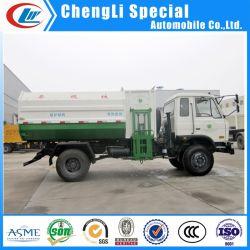 Dongfeng 8cbm hydraulischer Laden-Abfall-LKW-Seiten-Ladevorrichtungs-Abfall-LKW