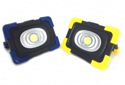 Banco de potencia USB COB recargable linterna LED 10W