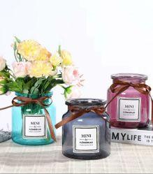 Decoracion personalizada Jarrón de flores en florero de vidrio para la moda Home Sala de estar y comedor