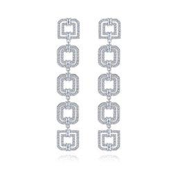 Monili di costume cubici dell'orecchino di Zircon del AAA dei monili dell'argento sterlina 925