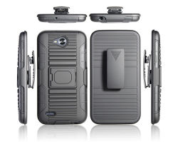 Armor combo 3 en 1 anneau de l'étui béquille cas Téléphone pour LG x alimentation 2