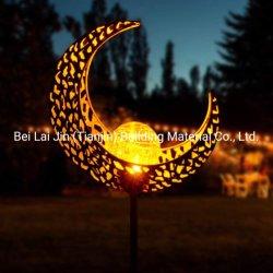 Alimentada a energia solar Piscina Ferro oco de arte fora Flower lua sol jardim do pátio de Design de abacaxi Home decoração festa festival lâmpada LED