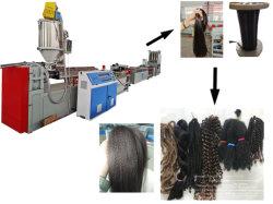 Extension de cheveux humains artificiels synthétique de la machine pour le marché au Ghana