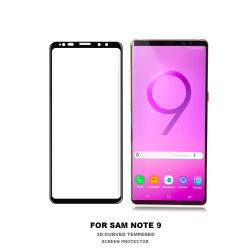 protezione amichevole dello schermo di vetro Tempered di caso 3D per la nota 9 della galassia di Samsung