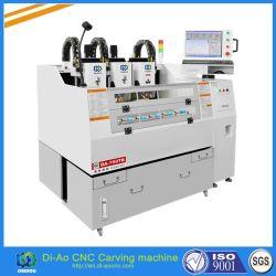 電話ガラス、電話スクリーン、金属、スクリーンの監視および緩和されたガラスの保護装置のための中国3ヘッドCNCの打抜き機
