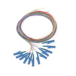 12 fibres mm SC/LC/FC/St 9/125 Mode unique bouquet/optique à fibres optiques de queue de cochon