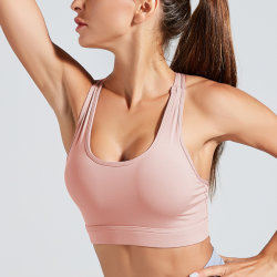 Sport-Büstenhalter für Frauen-hohe Auswirkung füllte Eignung-Unterwäsche-Weste-nahtlose Shockproof Yoga-Becken-Oberseite auf