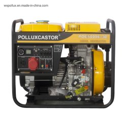 La PDE5000e simple /trois phase AC220V/380V Alternative générateurs diesel portable 50Hz