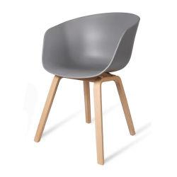 Хорошее соотношение цена высокое качество деревянной ногой ПВХ пластика для отдыхающих и обеденный стул используется в обеденный зал и кафе для продажи