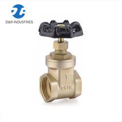 Контроль над водой латунные запорный клапан Pn16 с помощью колеса ручки, запорный клапан