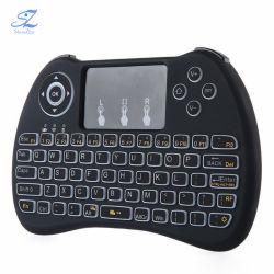 Minidrahtlose controller-Luft-Mäusekombiniertes ergonomisches der QWERTYtastatur-H9 Hand2.4ghz Fernfür intelligenten Fernsehapparat-Kasten