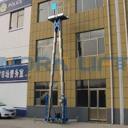 6m 8m 10m 12m 14m 16m de mástil vertical hidráulico de la antena de aleación de aluminio de doble elevación de hombre