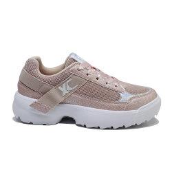 Xinchenレーザーの女性の靴の方法PUの歩くスニーカー
