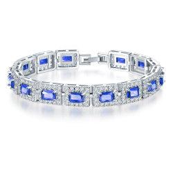 De forma simples pulseira jóias Zircon delicado revestimento prateado bracelete charme de cobre