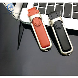 Directamente de fábrica de cuero de transmisión de alta velocidad USB Flash Memory Stick