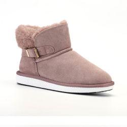 OEM de anti-Blokkeert Schoenen van de Vrouwen van de Schoenen van het Leer van de Manier Echte 2020 Dames maken de Laarzen van de Sneeuw van de Winter waterdicht