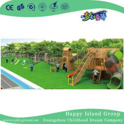 Maison en bois de plein air multifonction Faites glisser l'équipement de terrain de jeu (HJ-14704)