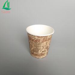 preço de fábrica PE revestidos de papel de parede simples copo descartável 8 oz chávena de café