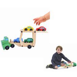 خشبيّة طيّ يطيّ [رمب] سيارة حامل شاحنة تربويّة جديات هبة تربية لعب