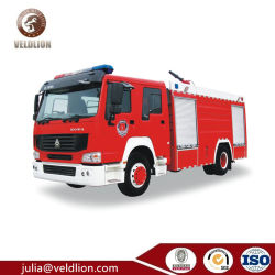 Sinotruk 4*2の普通消防車の消火活動のトラック7000Lの消防車の火のレスキューは装置をトラックで運ぶ