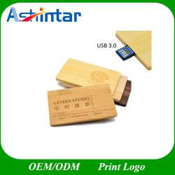 Bamboo USB3.0 フラッシュディスククレジットカード USB フラッシュドライブ木材 USB スティック