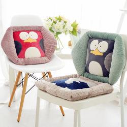 Commerce de gros Creative Design Pattern Soft Cartoon broderie Coussin de siège en peluche