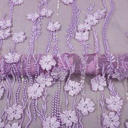 Mx398 Design Folwer Tules Bordados plana de malha com tecido Lace Sequin