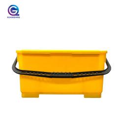 Venda por grosso de PP retangular Jardim balde plástico de água de limpeza com Rodas