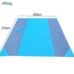 BSCI audit fournisseur OEM Custom Tissu en polyester étanche Ripstop Sandfree Grand pique-nique Beach Camping couverture avec logo imprimé